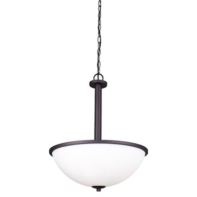 Mcphail 3-Light Bowl Pendant Finish: Brushed Nickel