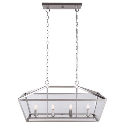 Deeann 4-Light Candle-Style Chandelier Finish: Brushed Nickel