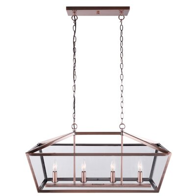 Deeann 4-Light Candle-Style Chandelier Finish: Bronze