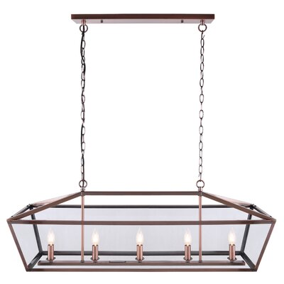 Deeann 5-Light Candle-Style Chandelier Finish: Bronze