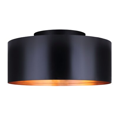 Troxel 2-Light Semi Flush Mount
