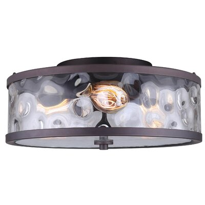 Bernardine Contemporary 3-Light Semi Flush Mount Fixture Finish: Oil Rubbed Bronze