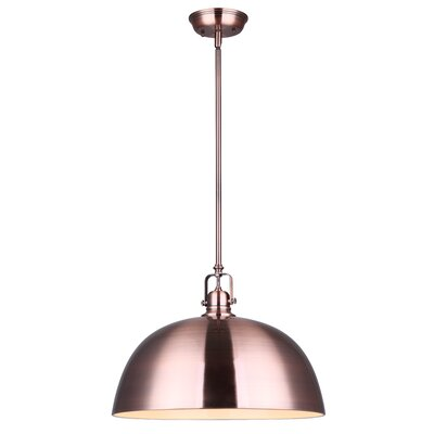 Usry 1-Light Inverted Pendant Size: 62.5