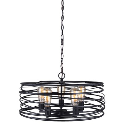 Poitras 5-Light Geometric Pendant