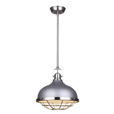 Carrabelle 1-Light Inverted Pendant Color: Brushed Nickel