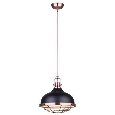 Carrabelle 1-Light Inverted Pendant Color: Black/Bronze