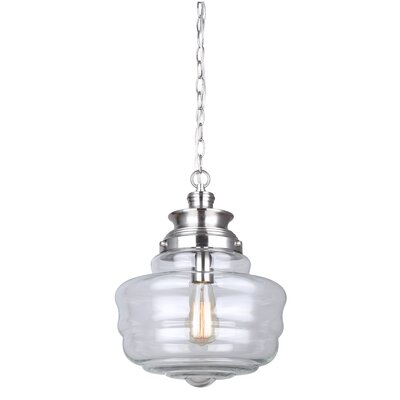 Gidley 1-Light Schoolhouse Pendant Finish: Brushed Nickel