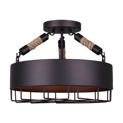 Charlyn 3-Light Semi Flush Mount
