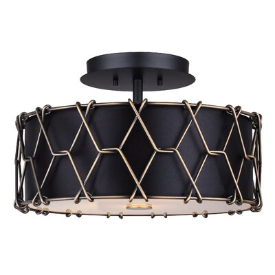 Tosha 2-Light Semi Flush Mount