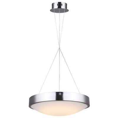Quayle LED Drum Pendant Finish: Brushed Nickel