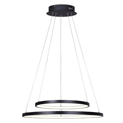 Queanbeyan LED Crystal Pendant Finish: Black