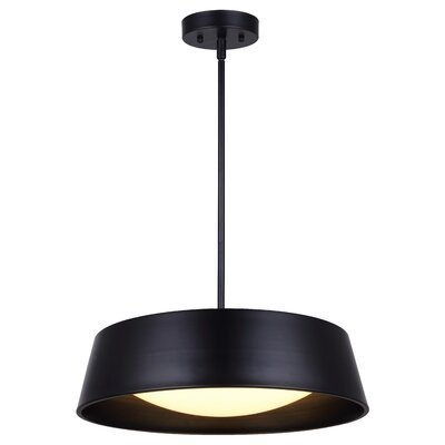 Templehof LED Inverted Pendant Size: 52.5 H x 17.25 W x 17.25 D