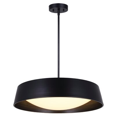 Templehof LED Inverted Pendant Size: 13.5 H x 22 W x 22 D