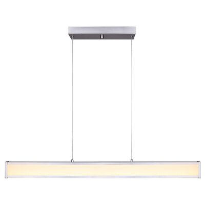 Queener LED Kitchen Island Pendant Finish: Brushed Nickel