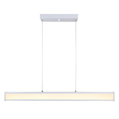 Queener LED Kitchen Island Pendant Finish: White