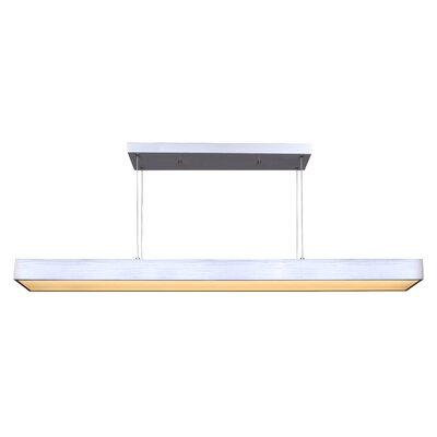 Bracken LED Kitchen Island Pendant Finish: Aluminium