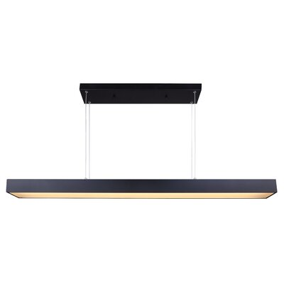Bracken LED Kitchen Island Pendant Finish: Black