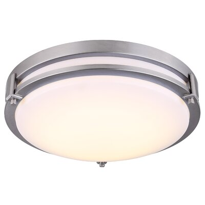 Jacquelynn LED Metal Flush Mount Fixture Finish: Brushed Nickel