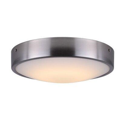 Quayle Contemporary LED Flush Mount Fixture Finish: Brushed Nickel