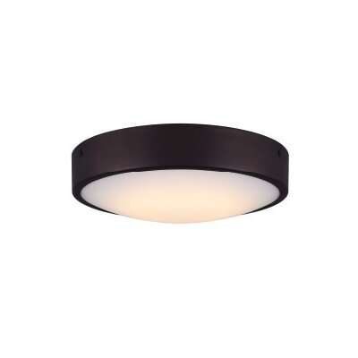Quayle Contemporary LED Flush Mount Fixture Finish: Oil Rubbed Bronze
