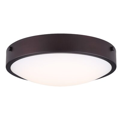 Quayle LED Flush Mount Fixture Finish: Oil Rubbed Bronze