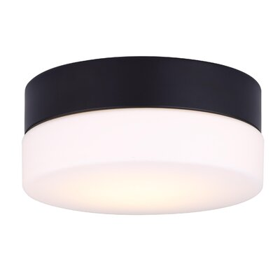 Valera Contemporary LED Flush Mount Fixture Finish: Black