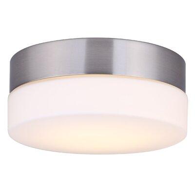 Valera Contemporary LED Flush Mount Fixture Finish: Brushed Nickel