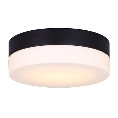 Valera LED Flush Mount Fixture Finish: Black, Size: 3.18H x 9.38W x 9.38D