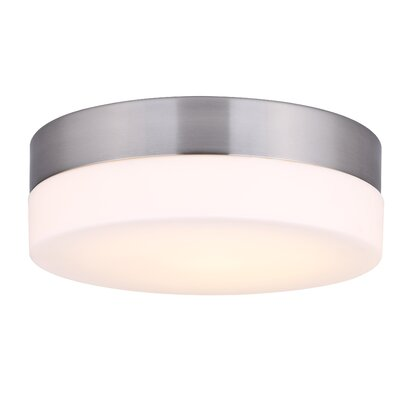 Valera LED Flush Mount Fixture Finish: Brushed Nickel, Size: 3.18H x 9.38W x 9.38D