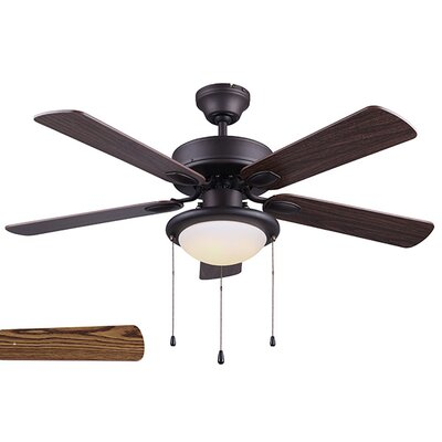 42 Margaret 5 Blade LED Ceiling Fan Finish: Brushed Nickel with Walnut/Cherry Blades