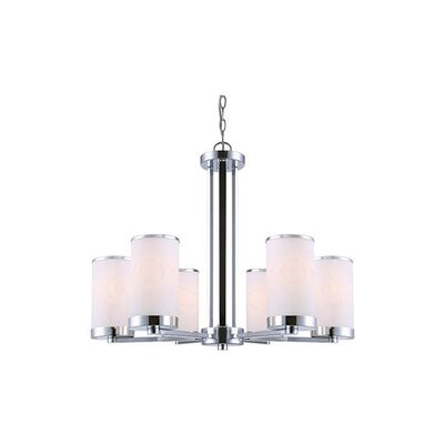 Odriscoll 6-Light Shaded Chandelier