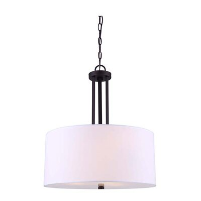 Resaca 3-Light Drum Chandelier Finish: Oil Rubbed Bronze