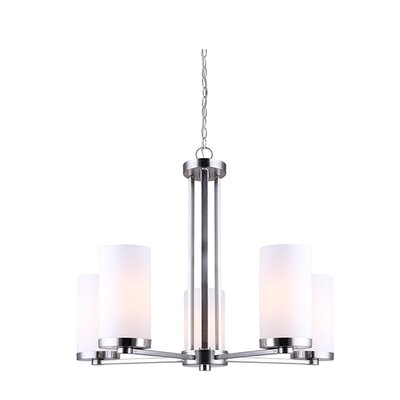 Resaca 5-Light Shaded Chandelier Finish: Brushed Nickel