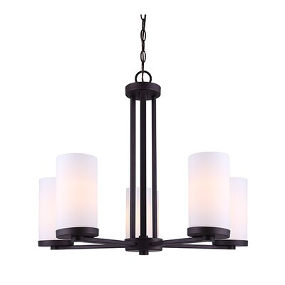 Resaca 5-Light Shaded Chandelier Finish: Oil Rubbed Bronze