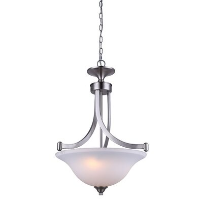Margaret 3-Light Bowl Pendant Finish: Brushed Nickel
