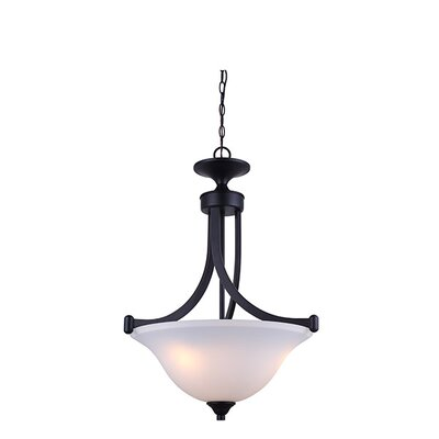 Margaret 3-Light Bowl Pendant Finish: Oil Rubbed Bronze