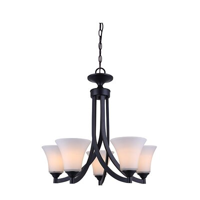 Margaret 5-Light Shaded Chandelier Finish: Oil Rubbed Bronze