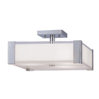 Oldbury Naite Semi 2-Light Flush Mount