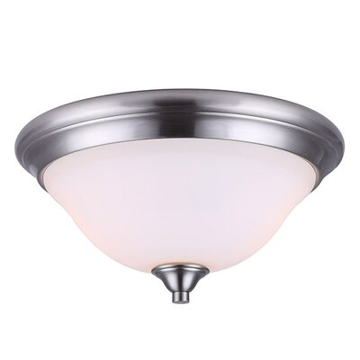 Margaret 2-Light Flush Mount Fixture Finish: Brushed Nickel