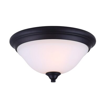 Margaret 2-Light Flush Mount Fixture Finish: Oil Rubbed Bronze