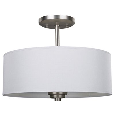 Broyles 3-Light Semi Flush Mount Fixture Finish: Brushed Nickel