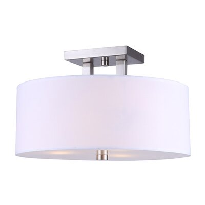 Resaca 3-Light Semi Flush Mount Fixture Finish: Brushed Nickel