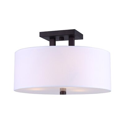Resaca 3-Light Semi Flush Mount Fixture Finish: Oil Rubbed Bronze