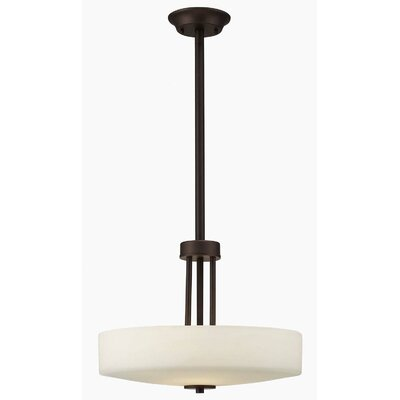 Quincy 3-Light Drum Pendant Finish: Oil Rubbed Bronze