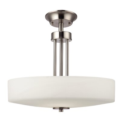 Quincy 3-Light Drum Pendant Finish: Brushed Nickel