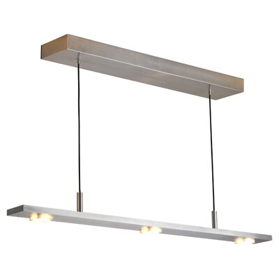 Brevis 5-Light Kitchen Island Pendant Finish: Brushed Aluminum, Size: 42