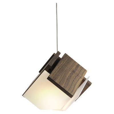Mica 1-Light Mini Pendant Finish: Oiled Walnut