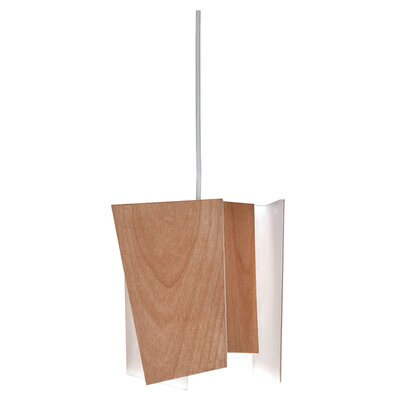 Levis 1-Light LED Pendant Shade: Beech Wood