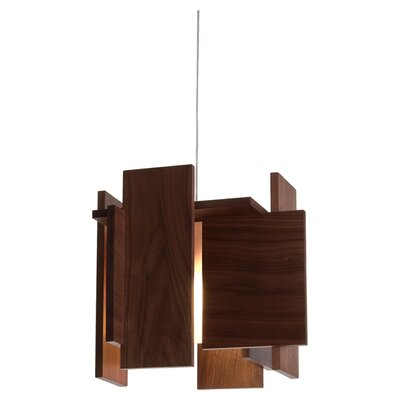 Abeo L 1-Light Foyer Pendant Finish: Dark Stained Walnut, Canopy: Low Profile