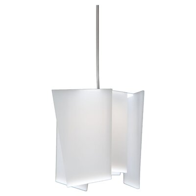 Levis 1-Light LED Mini Pendant Shade: Frosted Polymer